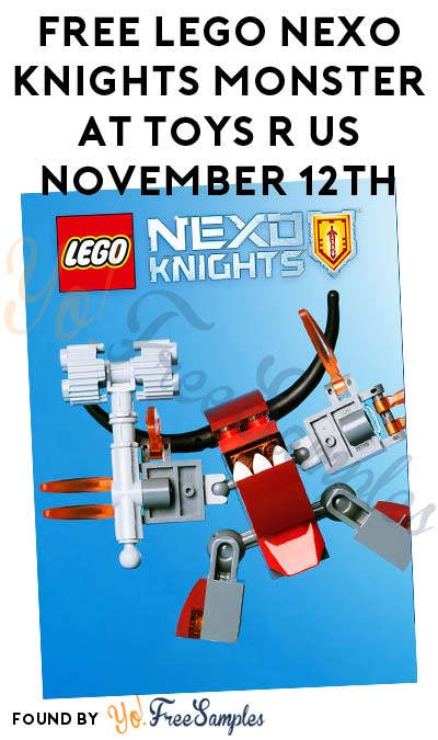 FREE LEGO Nexo Knights Monster At Toys R Us November 12th