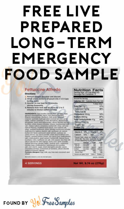 Back In Stock: FREE Live Prepared Long-Term Emergency Food Sample [Verified Received By Mail]