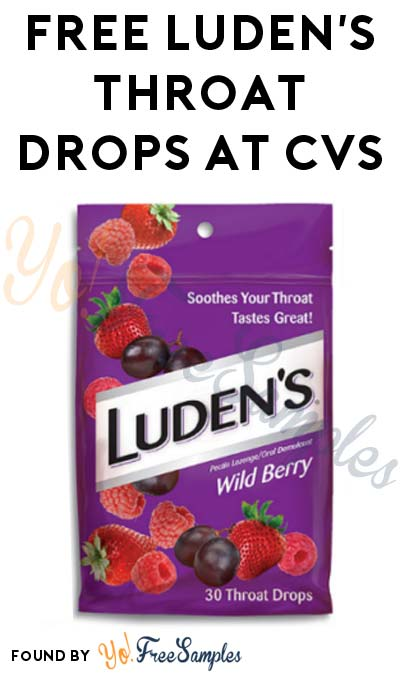 FREE Luden's Throat Drops At CVS