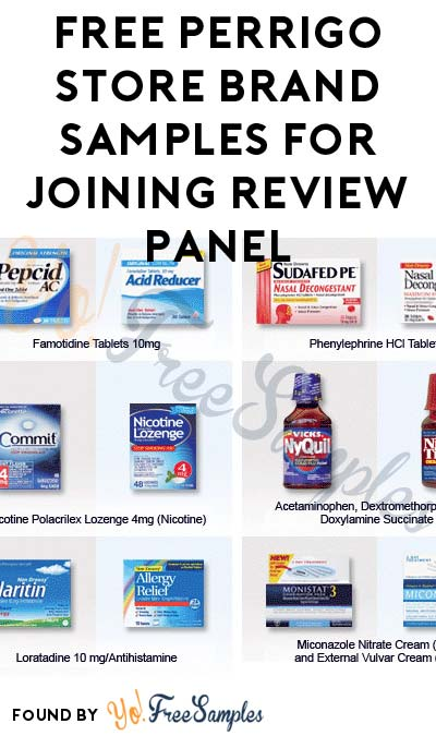 FREE Perrigo Store Branded Product Samples For Joining Review Panel (Email Confirmation Required) [Verified Received By Mail]