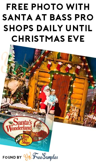 FREE Photo With Santa At Bass Pro Shops Daily Until Christmas Eve