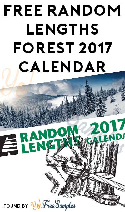 FREE Random Lengths Forest 2017 Calendar