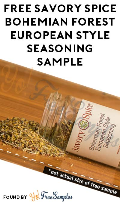 FREE Savory Spice Bohemian Forest European Style Seasoning Sample (In-Store Only)