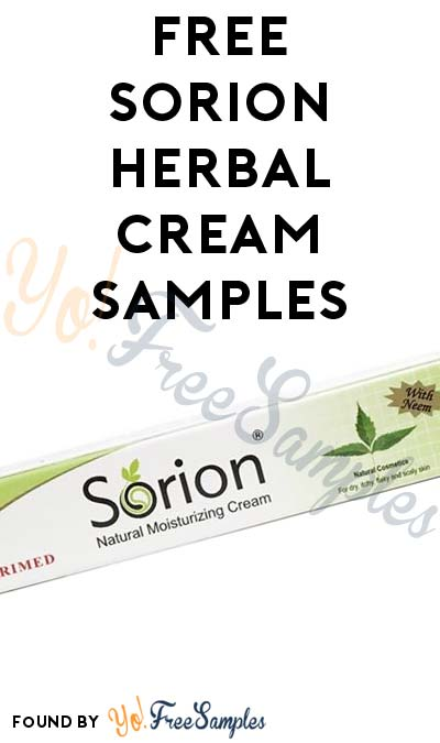 First 1K: Free Sorion Herbal Cream Samples (Email & Psoriasis