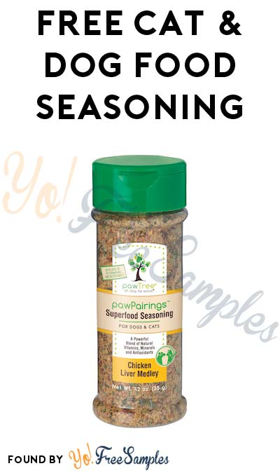 FREE pawTree pawPairings Cat & Dog Food Seasoning (Survey Required)