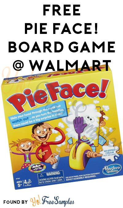 FREE Pie Face! Board Game From Walmart After Pickup & Cashback (New & Existing BeFrugal Members) [Verified Received By Mail]