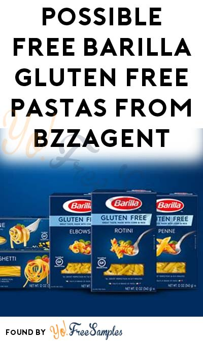 Possible FREE Barilla Gluten Free Pastas From BzzAgent