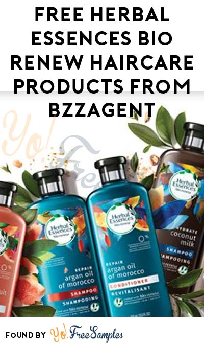 Possible FREE Herbal Essences Bio Renew Haircare Products From BzzAgent