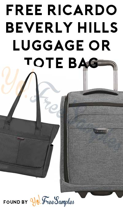 FREE Ricardo Beverly Hills Luggage or Tote Bag From ViewPoints (Survey Required)