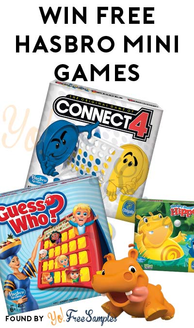 Win FREE Hasbro Mini Games Twister, Connect 4 & More