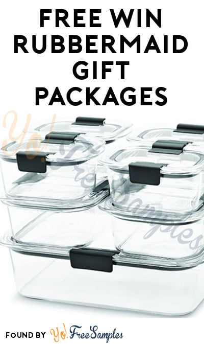Win FREE Rubbermaid BRILLIANCE Containers From Dr. Oz