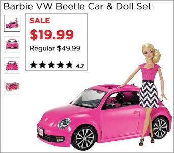 VW Barbie Doll Set