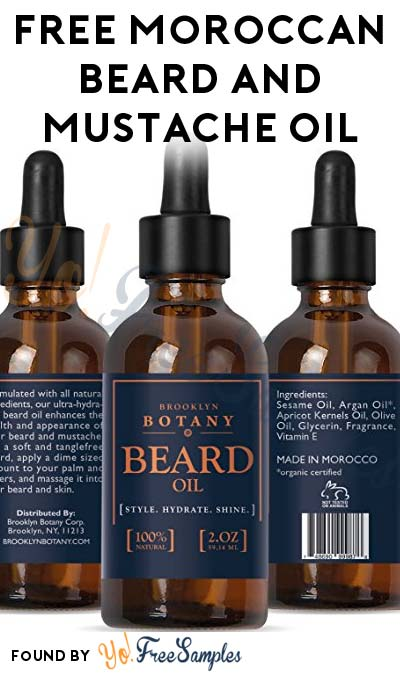 FREE Brooklyn Botany's Moroccan Beard & Mustache Oil From JumpSend (Must Apply)