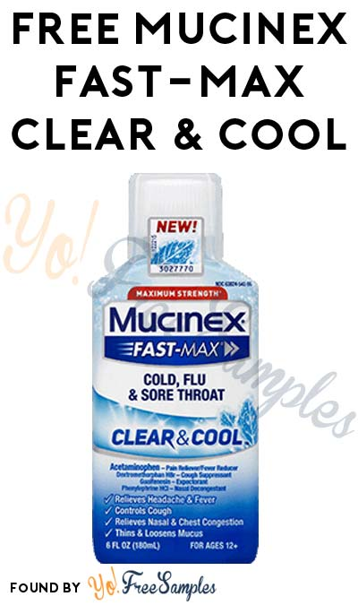 Possible FREE Full-Size Mucinex Fast-Max Clear & Cool or Other Mucinex Products (Smiley360)