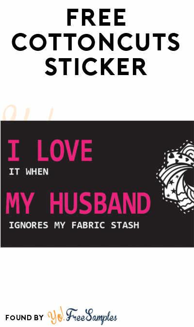 FREE Cottoncuts Sticker
