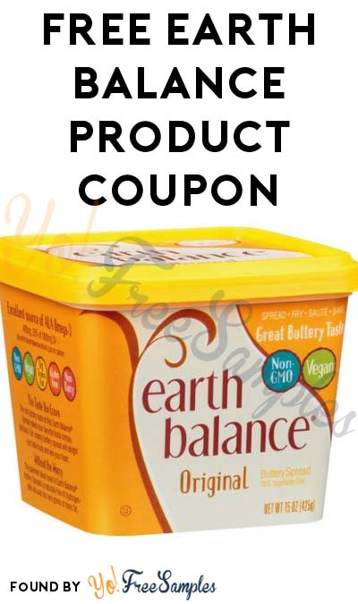 FREE Earth Balance Product Coupon (First 2,000)