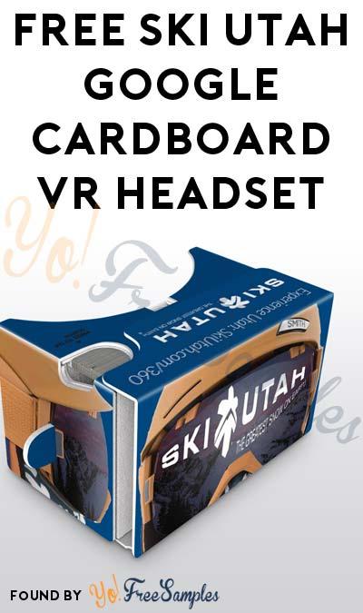FREE Ski Utah Google Cardboard VR Headset