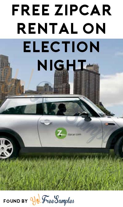 FREE Zipcar Rental November 8th 6PM-10PM