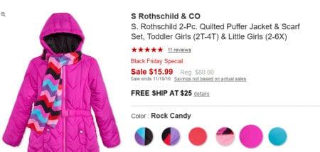 toddler/child girls jacket set