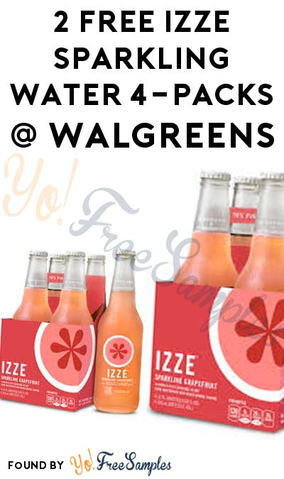 2 FREE Izze Sparkling Water 4-Packs At Walgreens (Coupon Required)