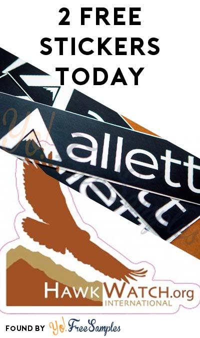 2 FREE Stickers: HawkWatch International Sticker & Allett Sticker