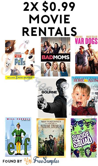 2 Nearly FREE Movie Rentals On Amazon & Google Play