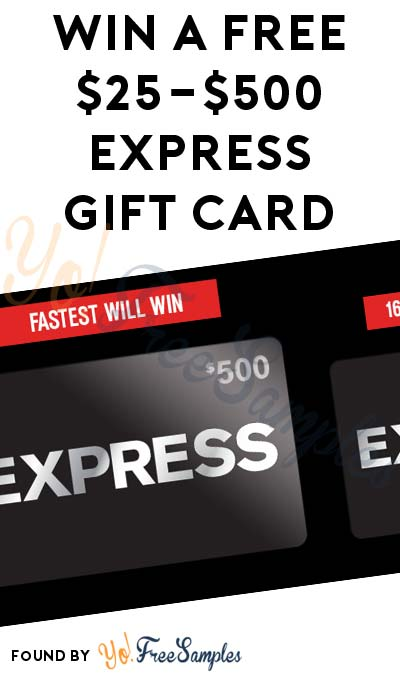 LIVE AT 10:30AM EST: Win A FREE $25-$500 Express Gift Card (Mobile Number Required)