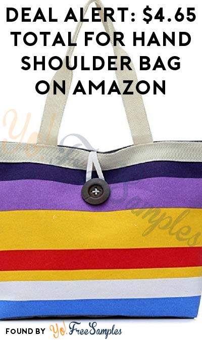 DEAL ALERT: $4.65 Total For Hand Shoulder Bag On Amazon