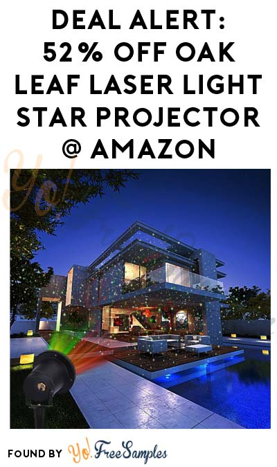 DEAL ALERT: 52% OFF Oak Leaf Laser Light Star Projector On Amazon Today (12/18)