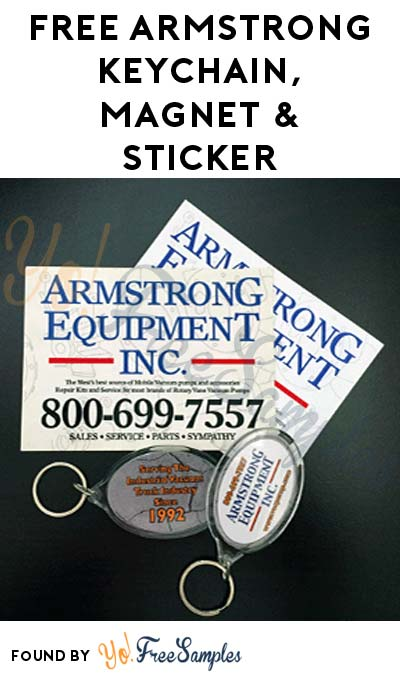 FREE Armstrong Keychain, Magnet & Sticker