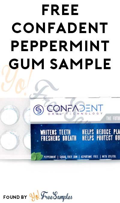 FREE CONFADENT Peppermint Gum Sample