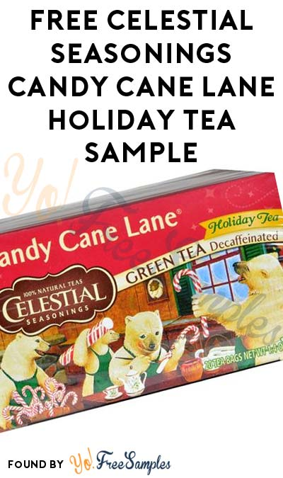FREE Celestial Seasonings Candy Cane Lane Holiday Tea Sample