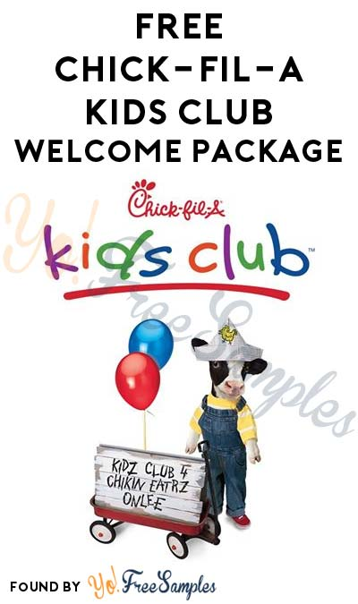 FREE Chick-fil-A Kids Club Welcome Package