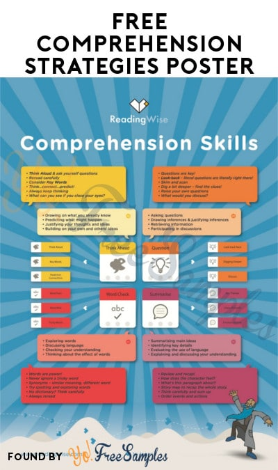 FREE Comprehension Strategies Poster For Educators
