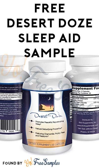FREE Desert Doze Sleep Aid Sample