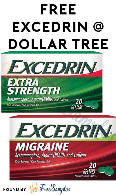 FREE Excedrin At Dollar Tree (Coupon Required)