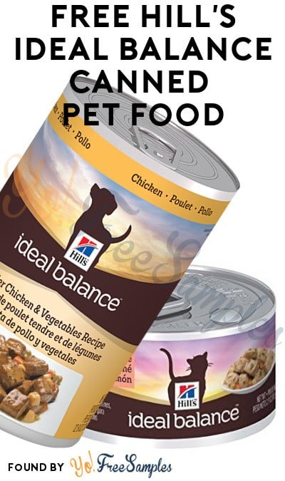FREE Hill's Ideal Balance Canned Pet Food From CrowdTap For Completing Mission