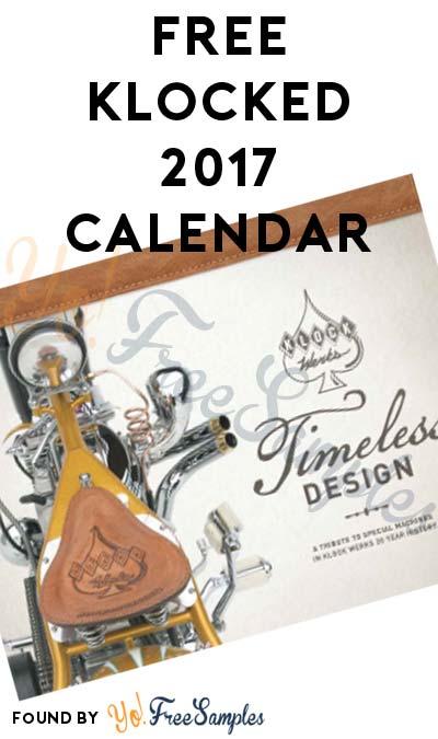 FREE Klocked 2017 Calendar
