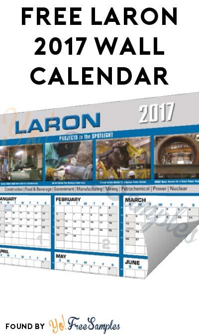FREE Laron 2017 Wall Calendar