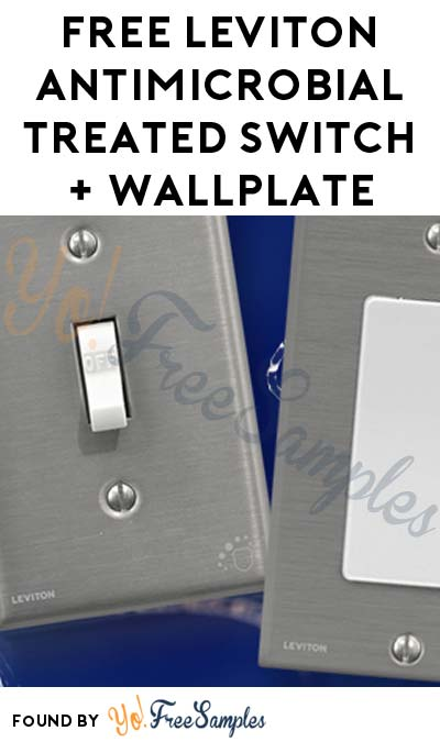 FREE Leviton Antimicrobial Treated Switch + Wallplate (First 200) [Verified Received By Mail]