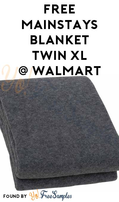FREE Mainstays Value Blanket Twin XL At Walmart After In-Store Pick Up & Cashback (New TopCashBack Members Only)