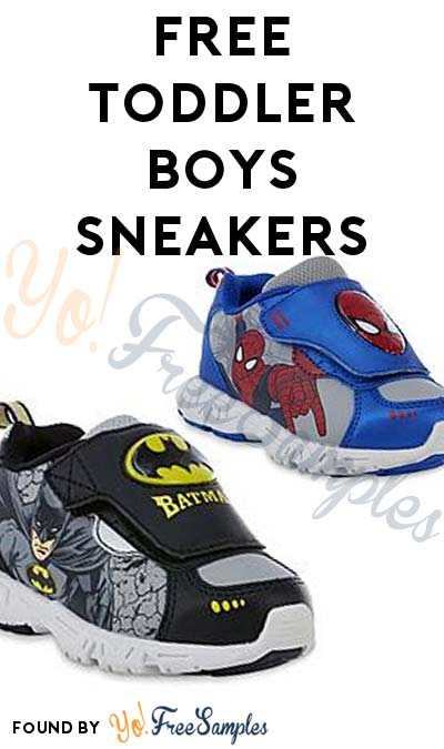 FREE Marvel / DC Comics Toddler Boys Batman or Spiderman Sneakers After In-Store Pickup & Sears Cashback
