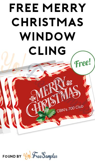 FREE Merry Christmas Window Cling [Verified Received By Mail]
