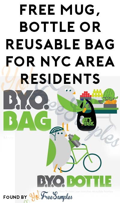 FREE Mug, Bottle or Reusable Bag For NYC Area Residents [Verified Received By Mail]