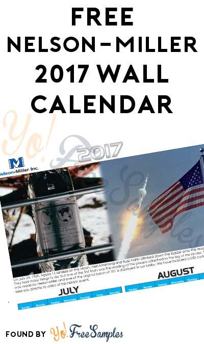 FREE Nelson-Miller 2017 Wall Calendar