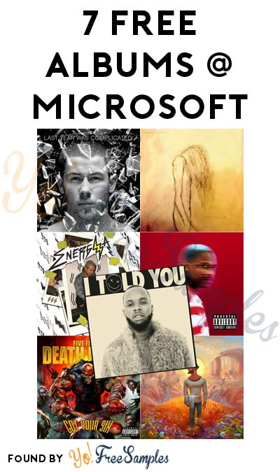 FREE Nick Jonas, The Pretty Reckless, J. Balvin, Yg, Five Finger Death Punch, Jon Bellion & Tory Lanez Albums From Microsoft Store