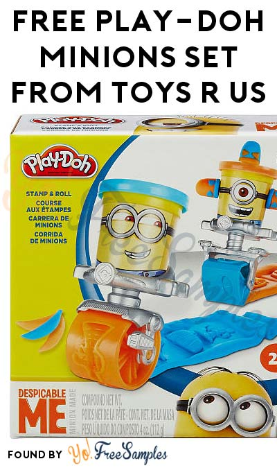 FREE Play-Doh Stamp and Roll Set Featuring Despicable Me Minions From Toys R Us After Cashback (New TopCashBack Members Only)