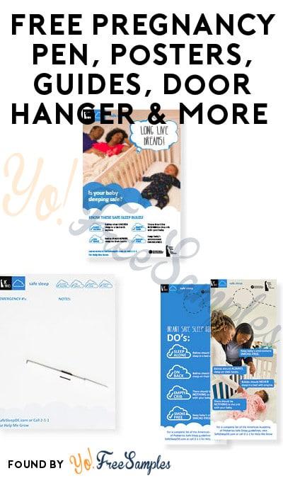 FREE Pregnancy Pen, Posters, Guides, Door Hanger & More (DE Only?)