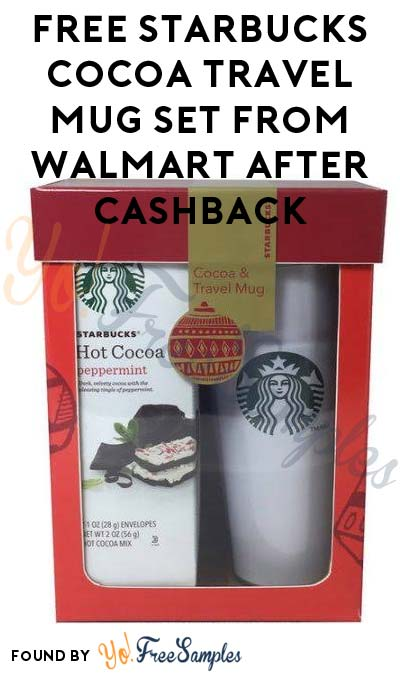 FREE Starbucks Cocoa Travel Mug Set From Walmart After Pickup & Cashback (New & Existing BeFrugal Members)