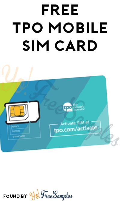 FREE TPO Mobile Sim Card [Verified Received By Mail]